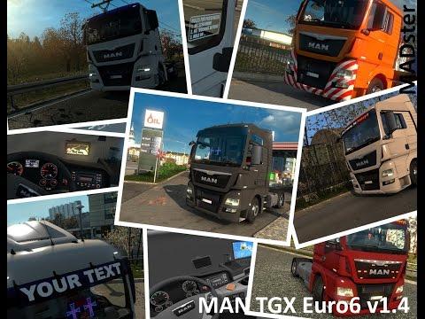 MAN TGX Euro6 v1.4 1.21.xx