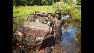 10. Polaris Ranger on tracks, RZR and Can Am Commanders in some serious mud! PowerModz!