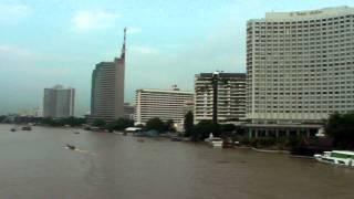 Sathorn And The Chao Phraya River, Bangkok; Thailand