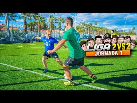 LIGA 2vs2 | JORNADA 1 | RETO FÚTBOL [Crazy Crew] (видео)