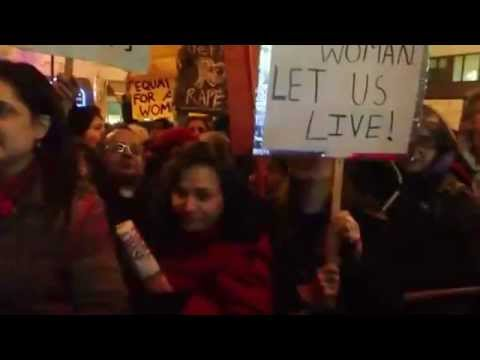 Protest against sexual violation at the Indian High Commission