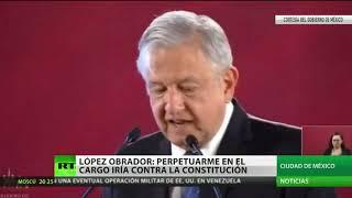 López Obrador firma un convenio para no reelegirse