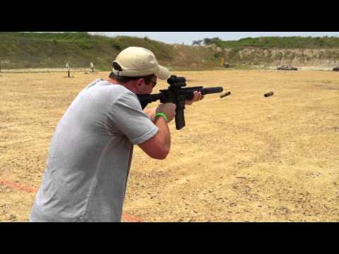 Suppressed 300 Blackout SBR full auto - 2011 Silencer Shoot