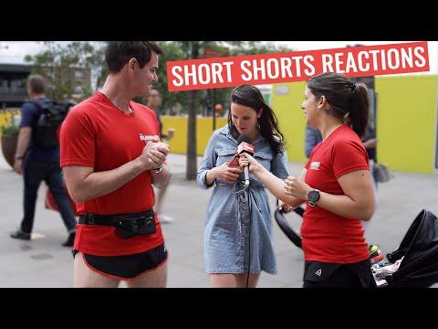 "People React To 2"" SHORT Running Shorts"