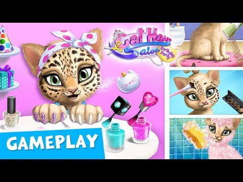 CATS' BEAUTY ROUTINE  Cat Hair Salon Birthday Party - Gameplay  TutoTOONS Games for Kids