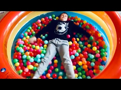 600 Balls in our indoor pool Ball Pit.