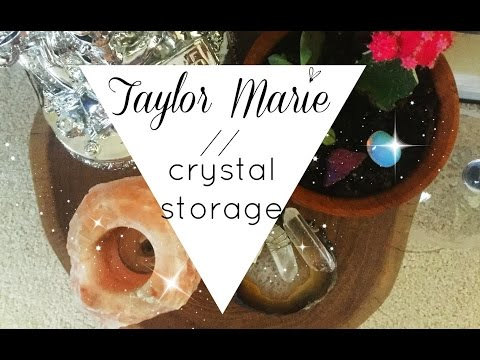 , title : 'crystal storage & display  ▲ Taylor Marie'