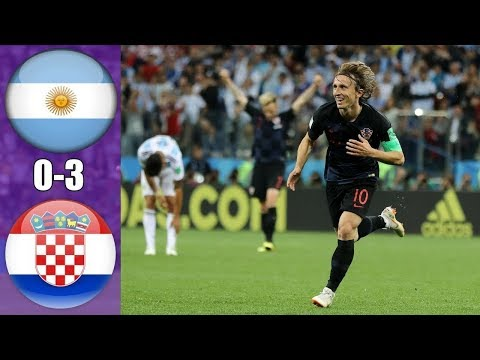 Argentina vs Croatia 0 3 -  Goals & Highlights   21 06 2018  World Cup   From stands
