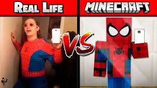 MINECRAFT VS REAL LIFE MIRROR CHALLENGE!