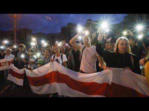 Με αμείωτη ένταση συνεχίζονται οι διαδηλώσεις στη Λευκορωσία…