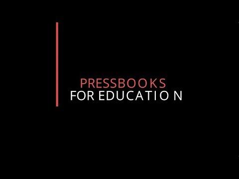 Pressbooks video introduction link