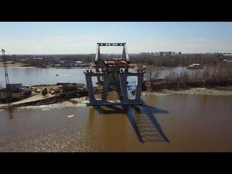 Строительство Фрунзенского моста вСамаре 21.04.2018
