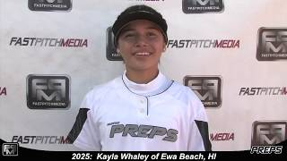 2025 Kayla Whaley Speedy Slapper and Outfield Softball Skills Video - Easton Preps Hawaii
