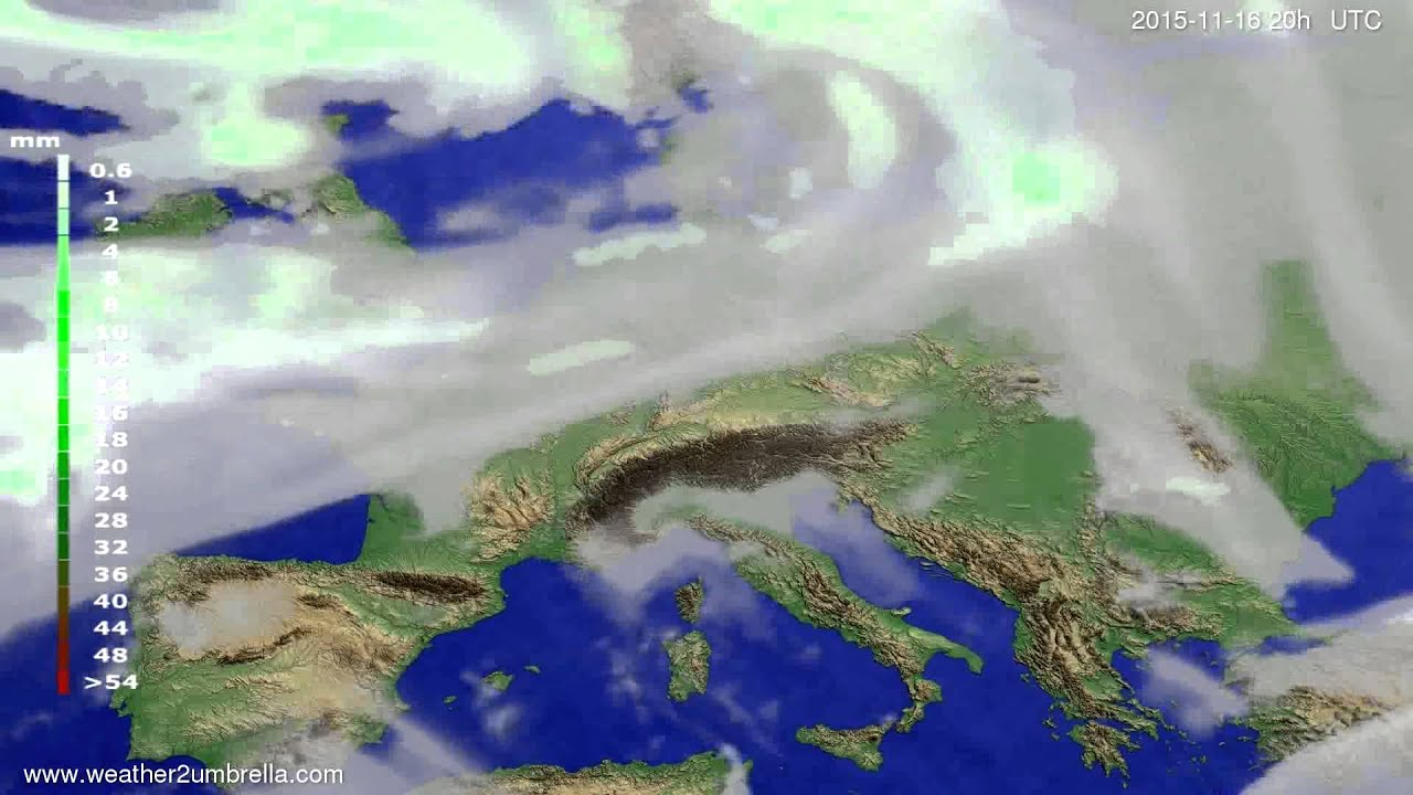 Precipitation forecast Europe 2015-11-14