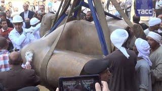 В Каире подняли на поверхность фрагменты статуи фараона Рамзеса II