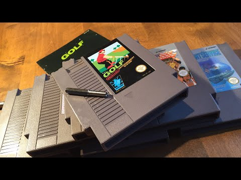 Free Famicom adaptor or not? Opening the NES game GOLF