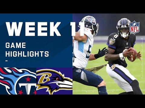 Titans vs. Ravens Week 11 Highlights   NFL 2020