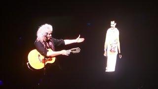 Video Queen- Brian May with Freddie Mercury video-  Love of My Life - LIVE Birmingham MP3, 3GP, MP4, WEBM, AVI, FLV Mei 2018