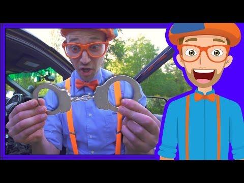 Police Cars for Children with Blippi  Educational Videos for Kids
