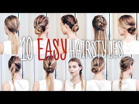 10 ПРИЧЕСОК на КАЖДЫЙ ДЕНЬ для ТОНКИХ волос #VictoriaR
