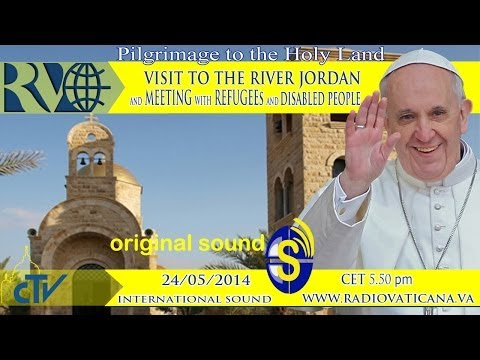 Visit to the River Jordan and meeting with refugees and disa