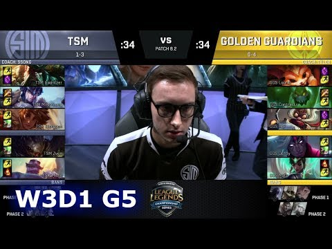 TSM vs Golden Guardians | Week 3 Day 1 of S8 NA LCS Spring 2018 | TSM vs GGS W3D1 G5