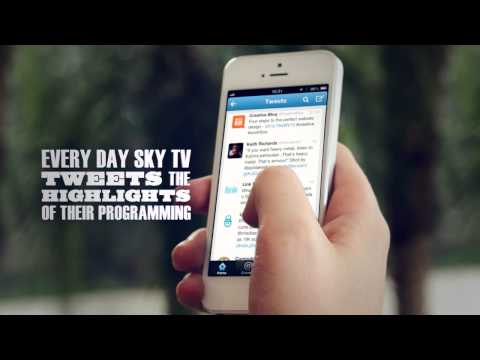 Sky Brazil allows customers to record programmes at home using Twitter with #SKYREC video