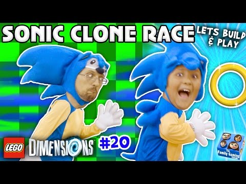 SONIC THE HEDGEHOG TWINS! LEGO Dimensions Fun w/ Dr Robotnik Battle (Let's Build & Play YEAR 2 #20)