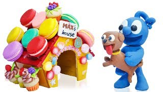 CLAY MIXER BUILDS COLORS PUPPY PLAYHOUSE  Play Doh Cartoons Stop Motion
