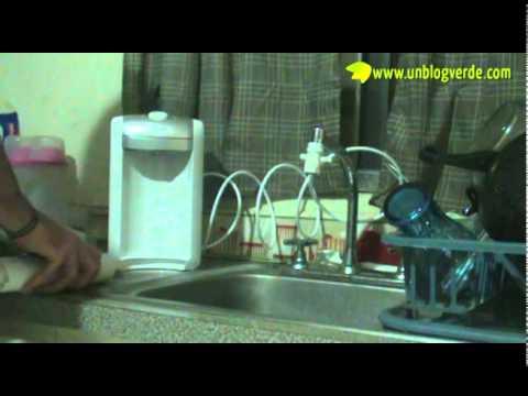 Filtro de Agua en un Blog Verde