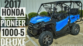 4. 2017 Honda Pioneer 1000-5 Deluxe Review of Specs & Walk-Around / Startup Video | Blue SXS10M5D UTV