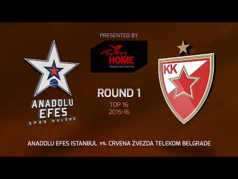 Highlights: Top 16, Round 1, Anadolu Efes Istanbul 85-84 Crvena Zvezda