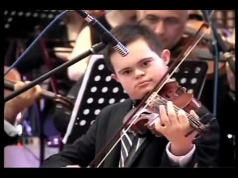 Watch video Down Syndrome: Violin Concert
