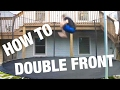 HOW TO DOUBLE FRONTFLIP ON TRAMPOLINE (EASY)