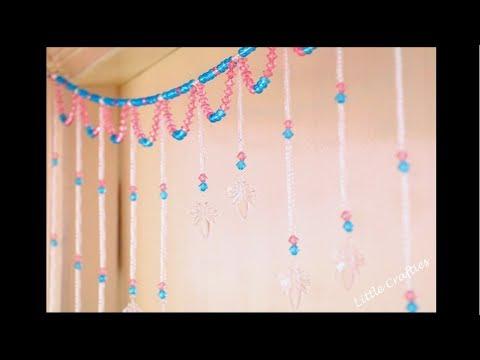 Handmade Door Hanging TORAN | Glass Beads Curtain | DIY Home Decor Ideas |  Little Crafties
