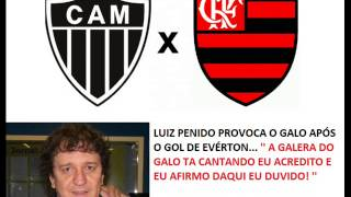 Atlético-MG 4 x 1 Flamengo - Luiz Penido provoca o Galo ( Aúdio de todos os GOLS ) 05/11/2014