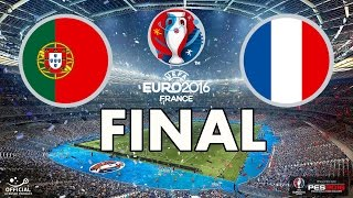 Video UEFA EURO 2016 FINAL - PES 2016 - Portugal vs France MP3, 3GP, MP4, WEBM, AVI, FLV Juni 2017