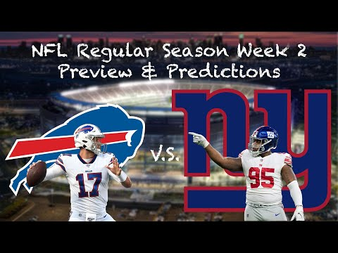 2019 NFL WEEK 2 - GIANTS VS. BILLS PREVIEW - MY WEEK 2 PICKS & NEW YORK GIANTS BOLD PREDICTIONS!