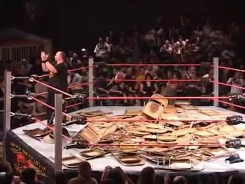 Wrestling Ring is Flooded with Chairs!