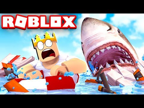 ATTACKED BY A MASSIVE MEGALODON SHARK IN ROBLOX  Roblox - Sharkbite