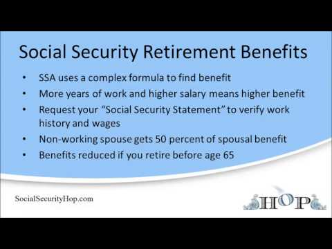 Finding Your Social Security Retirement Benefit