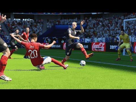 Croacia vs Inglaterra | Copa Mundial Rusia 2018 de FIFA, Semifinal | FIFA Simulacion
