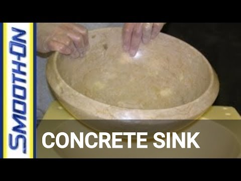 Concrete - http://www.smooth-on.com/Concrete-Casting/c1235/index.html to learn more about concrete casting. Casting a reproduction concrete sink basin by making a 2-par...