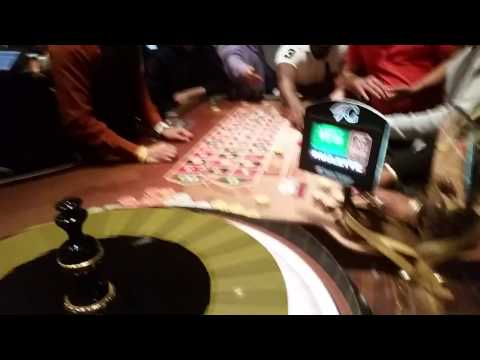 Betting 500 dollars on black roulette table. @ChoctawCasinos #ChoctawCasinos