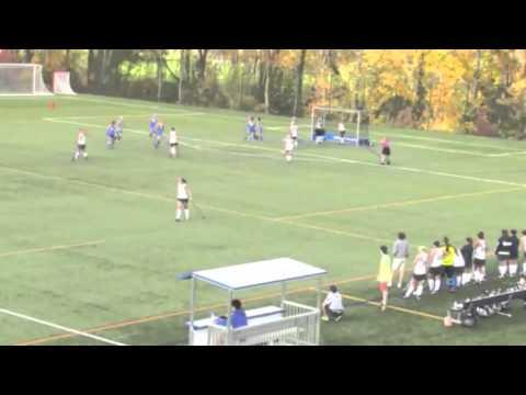 Justine Ruhlin Goal 1 vs. Moravian - 11/2/13