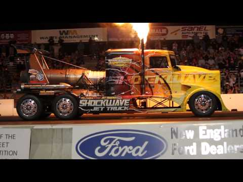 Shockwave Jet Truck From New England Dragway Jet Cars Under The Stars 2014