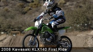 7. 2008 Kawasaki KLX140 First Ride - MotoUSA
