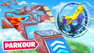 Impossible *New* Fortnite Baller Obstacle Course! (Hamster Ball Parkour Challenge)