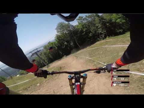 This guy's commentary of a downhill mountain bike course as he goes through it is hilarious.