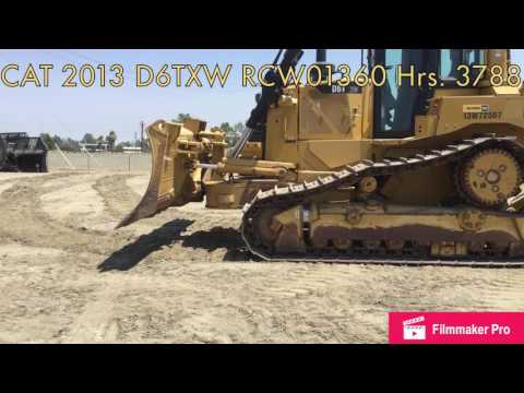 CATERPILLAR TRACK TYPE TRACTORS D6TXW equipment video MJRV6zUOCAM